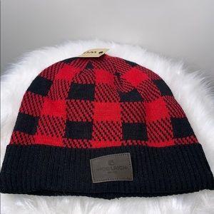 NWTs WOOLRICH • Buffalo Plaid Red Black Beanie Hat